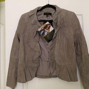 IMAN suede jacket- sz XS